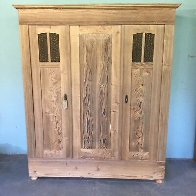 Old Pine Wardrobe Easily Dismantled Knockdown Two Door European.