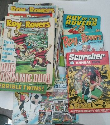74x Roy of the Rovers collection Annuals