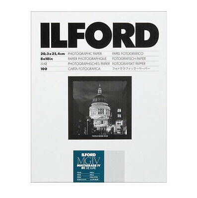 """Ilford 8 x 10"""" Multigrade IV RC Deluxe B&W Paper, Pearl Surface, 100 Sheets"""