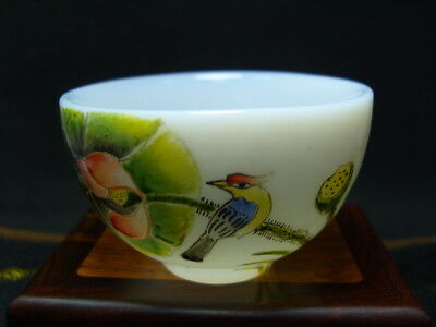 Exquisite Chinese enamel glass Bowl