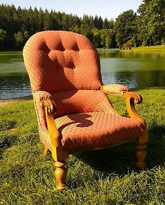 Rare WILLIAM MORRIS Victorian Walnut Armchair  From The Red House