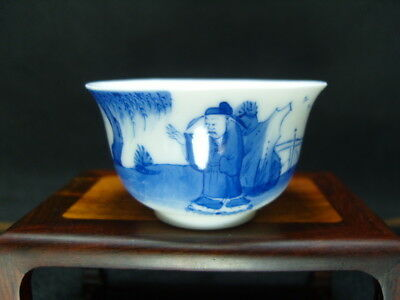 China Handwork Painting Blue And White Porcelain Bowl