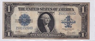 Series 1923 One Dollar Silver Certificate US Large Size Note Horse Blanket | 1