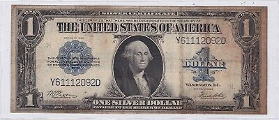 Series 1923 One Dollar Silver Certificate US Large Size Note Horse Blanket | 2