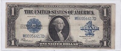 Series 1923 One Dollar Silver Certificate US Large Size Note Horse Blanket | 3