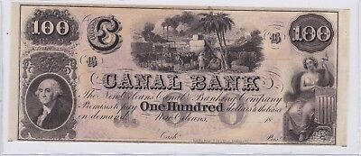 New Orleans Louisiana Canal Bank $100 One Hundred Dollars Note