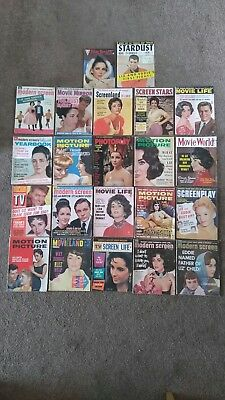 Collection of 22  magazine's featuring Elizabeth Taylor.