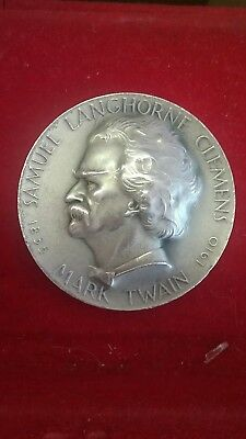 1963 Medallic Art Hall of Fame Great Americans Mark Twain .999 2 oz Silver Medal