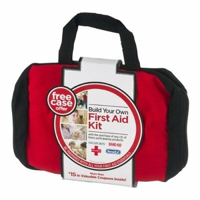 3 PK NEW! Johnson & Johnson Build Your Own First Aid Kit, Labeled Bag - BAG ONLY
