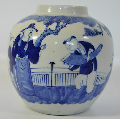An 18th/19th century Chinese blue and white porcelain jar/vase