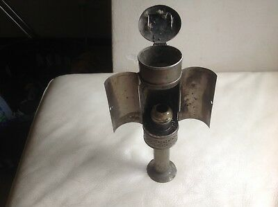 Unusual Victorian Portable Oil Lamp, Train or Carriage