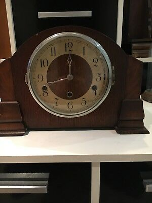 Vintage Art Deco British Movement Westminster Striking Clock