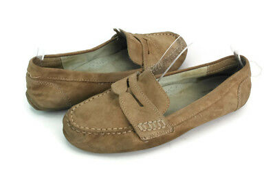 d3aa3683e4ca81 Cynthia Rowley Hazel Women s Brown Leather Moccasin Penny Loafers US Size 7  M