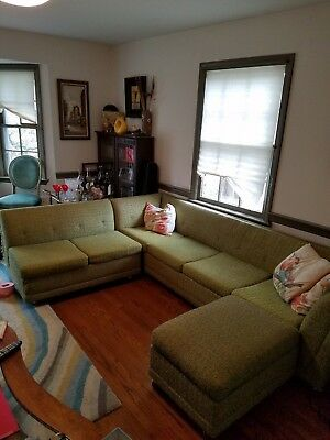 Mid Century Sofa Sectional 3 Pieces