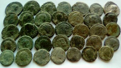 Lot Of 35 Ancient Bronze Roman Coins Uncleaned