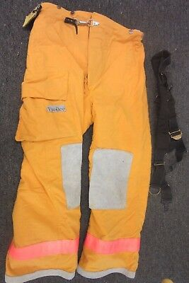Fire Dex Firefighter Pants Gear Protection Turnout Suit Bunker Yellow 2Xl 29 Tcp