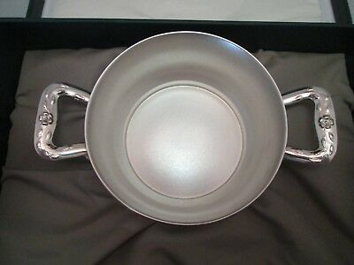 Camusso Signed Sterling Silver Baby Double Handled Bowl Dish in Orig. Box 76.7 g