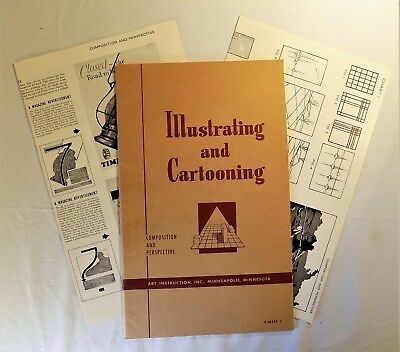 Illustrating and Cartooning Instruction Book #3 Composition and Perspective