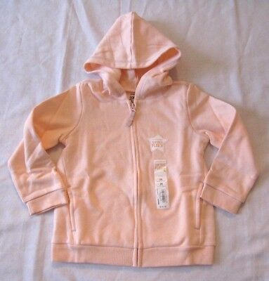 Jumping Beans Girls Pink Hoodie Zip Up Size 12 or 24 months New