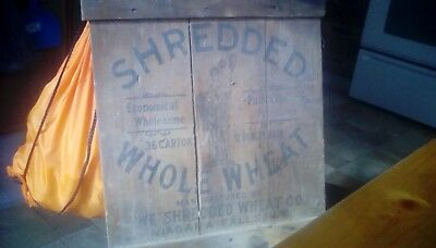 vintage unstained shredded whole wheat crate lid