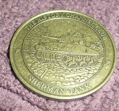 Sherman Tank  -  History Channel Collector Coin/medal