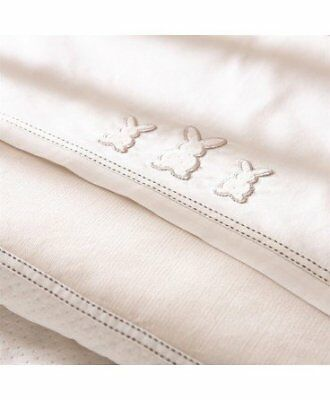 Izziwotnot Premium Gift Cream 2 pack Flat and Fitted Sheet