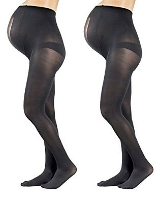 2 Pairs Opaque Maternity Tights  Stretchy, Soft And Comfortable Pregnancy Panty