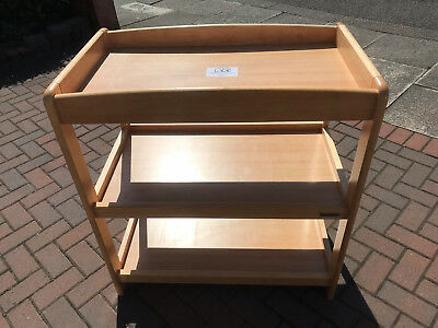MAMAS & PAPAS Changing Table w/Shelves (Wood - Excellent condition)