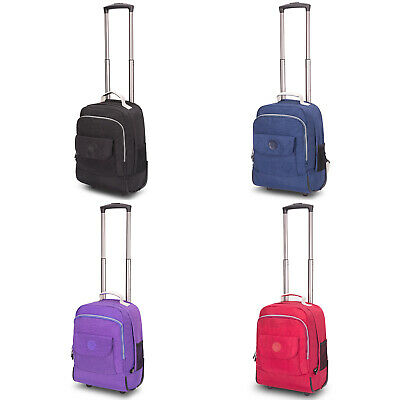 """17"""" Wheeled Rolling Backpack Travel Luggage Suitsase Trolley Carry On Bag"""