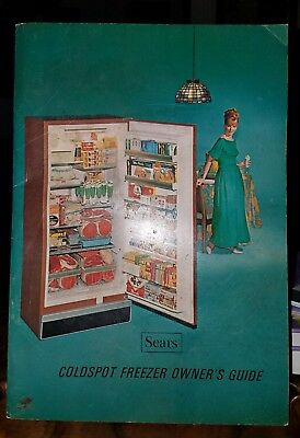 SEARS COLDSPOT FREZZER GUIDE●C1960's●COMPLETE, NEAR MINT CONDITION●SEE PICTURES