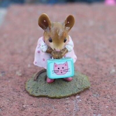 Wee Forest Folk Mouse Her New Lunch Box M-347a - US SELLER & Same Day Shipping