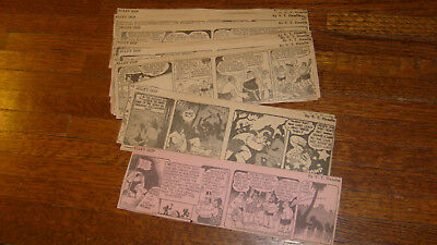ALLEY OOP, 25 DAILIES FROM NOVEMBER 1942, daily comics