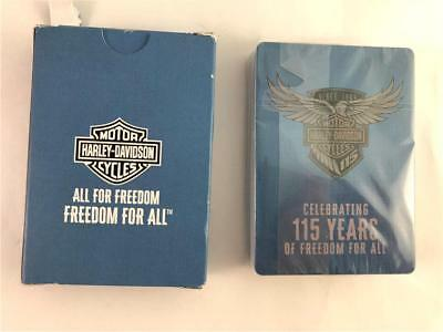 Harley Davidson Deck of Playing Cards Celebrating 115 Years of Freedom For All