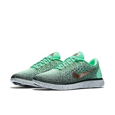 WOMEN S NIKE FREE RN Distance Shield Running Shoes NEW Green Hasta ... 089e96a8f8