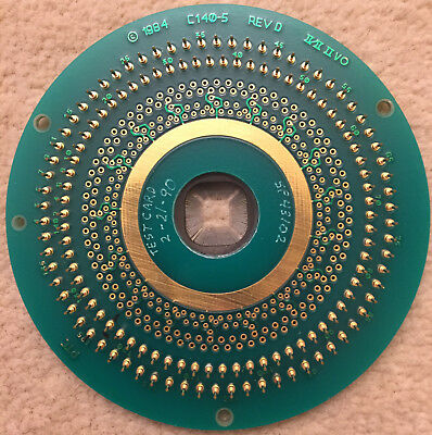 RARE Vintage Collectible Semiconductor Silicon Wafer Chip Test Prober Card Micro