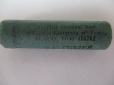1958-D Original Bank Wrapped Roll Bu Uncirculated Silver Roosevelt Dimes