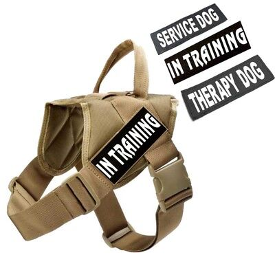 Service Dog Pet Training Harness Police Military Canine Vest & Removable Patches