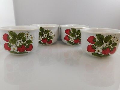 McCoy Pottery Strawberry Country Custard Cups - Set of 4