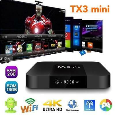 TX3 mini 2GB+16GB S905W Quad Core Android 7.1 TV BOX 2.4GHz WiFi 4K HD 3D Media