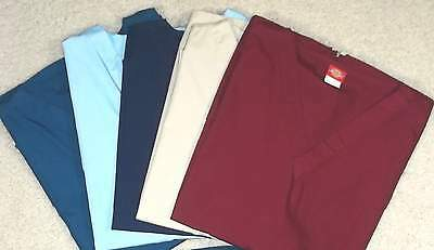Dickies Brand Scrubs: 5 Tops (2XL)  Some Never Worn!