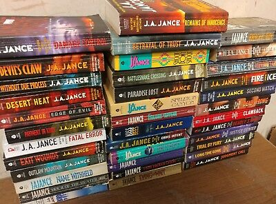 Lot of 10 J A Jance-Mysteries-Joanna Brady-Ali Reynolds-Thrillers PB MIX Books