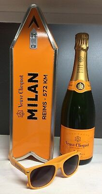 Veuve Clicquot Champagne Destination Arrow Tin Box MILAN Journey Street Sign