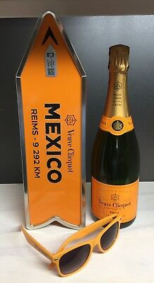 Veuve Clicquot Champagne Destination Arrow Tin Box MEXICO Journey Street Sign