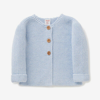 SEED HERITAGE - BABY CHUNKY KNIT BLUE CARDIGAN SIZE 0 (6-12 Months)