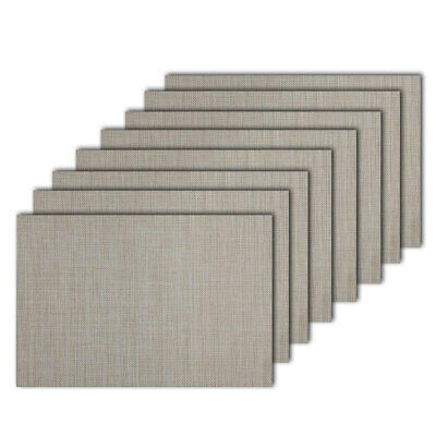 8pc Maxwell & Williams Crosshatch Placemat 45x30cm Dining/Place Table Mat Taupe