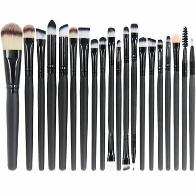 Set Da 20 Pennelli Professionali Per Make-Up, Pennello Trucco + Ombretto + Fard