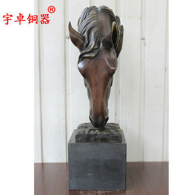 "29"" Art Deco Sculpture Horse Bronze Statue"