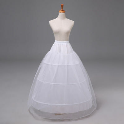 New White Elastic Waist Petticoat/Crinoline/Underskirt/Slip for Wedding/Party