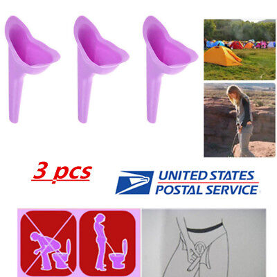 3* Women Portable Urinal Camping Travel Urination Device Urine Funnel Toilet