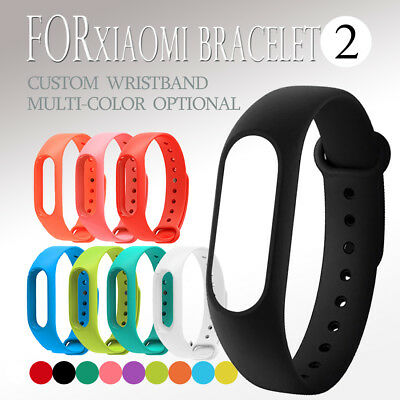 Replacement Silicone Watch Bracelet Band Wrist Strap For Xiaomi Mi Band 2 New
